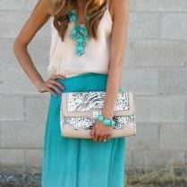 Maxi robe bleue