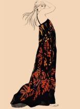 Chloe Robe galaxie spring/summer 1978 Karl Lagerfeld